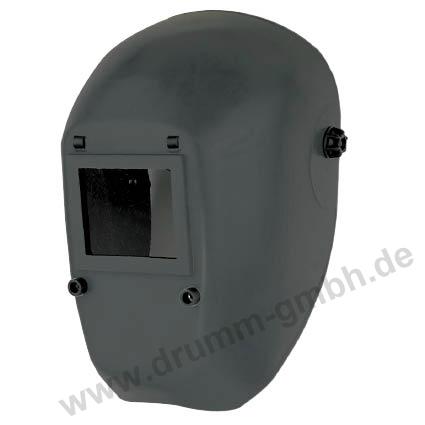 Kopfschutzschild Glasfasergewebe, schwarz, Glasgröße 90 x 110 mm Zoll