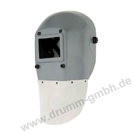 Kopfschutzschild Lederlatz, Glasgröße 90 x 110 mm