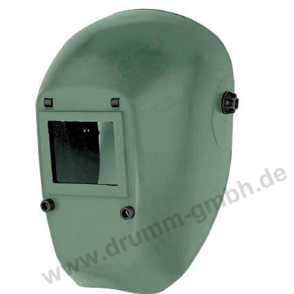 Kopfschutzschild Glasfasergewebe, grün, Glasgröße 90 x 110 mm