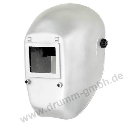 Kopfschild aluminiumfarbig, Glasgröße 90 x 110 mm
