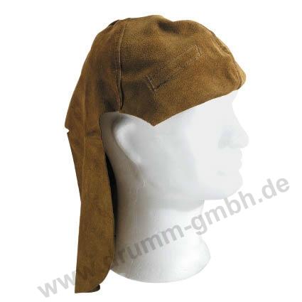 Kopf- /Nackenschutz aus Spaltleder