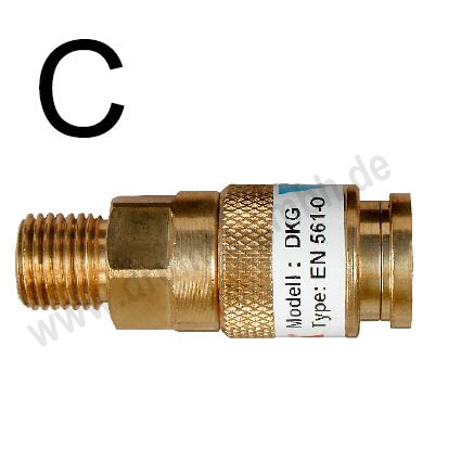 Edelstahl-Kupplungsstift für Griffstück- Schnellkupplung Typ kg