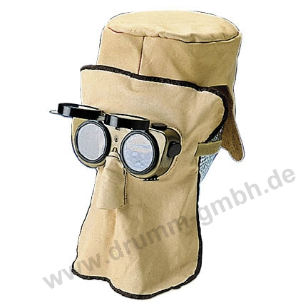 30 cm Ledermaske, Top-Qualität, mit AMIGO- Brille