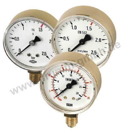 """Manometeruhr nach DIN 8549, Ø 63mm, Anschluss R 1/4"""" unten"""