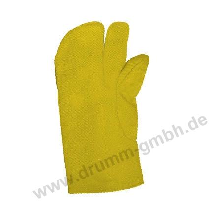 Hitzehandschuh 3-Fingerhandschuhe Aramidgewebe Typ 650, gelb, bis 500°C