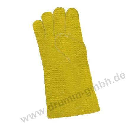 Hitzehandschuh 5-Fingerhandschuh Aramidgewebe Typ 650, gelb, bis 500°C