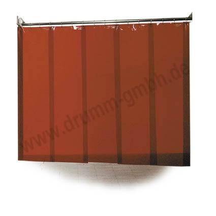 Streifenvorhänge 1,0 mm orange für alle Schweißverfahren