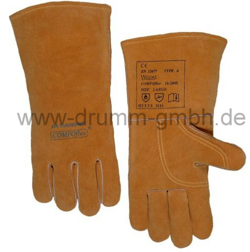 COMFOflex® MIG / MAG Handschuh gefüttert lang Größe L