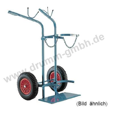 Stahlflaschenwagen Propan - Sauerstoff 1x50L/1x33 kg