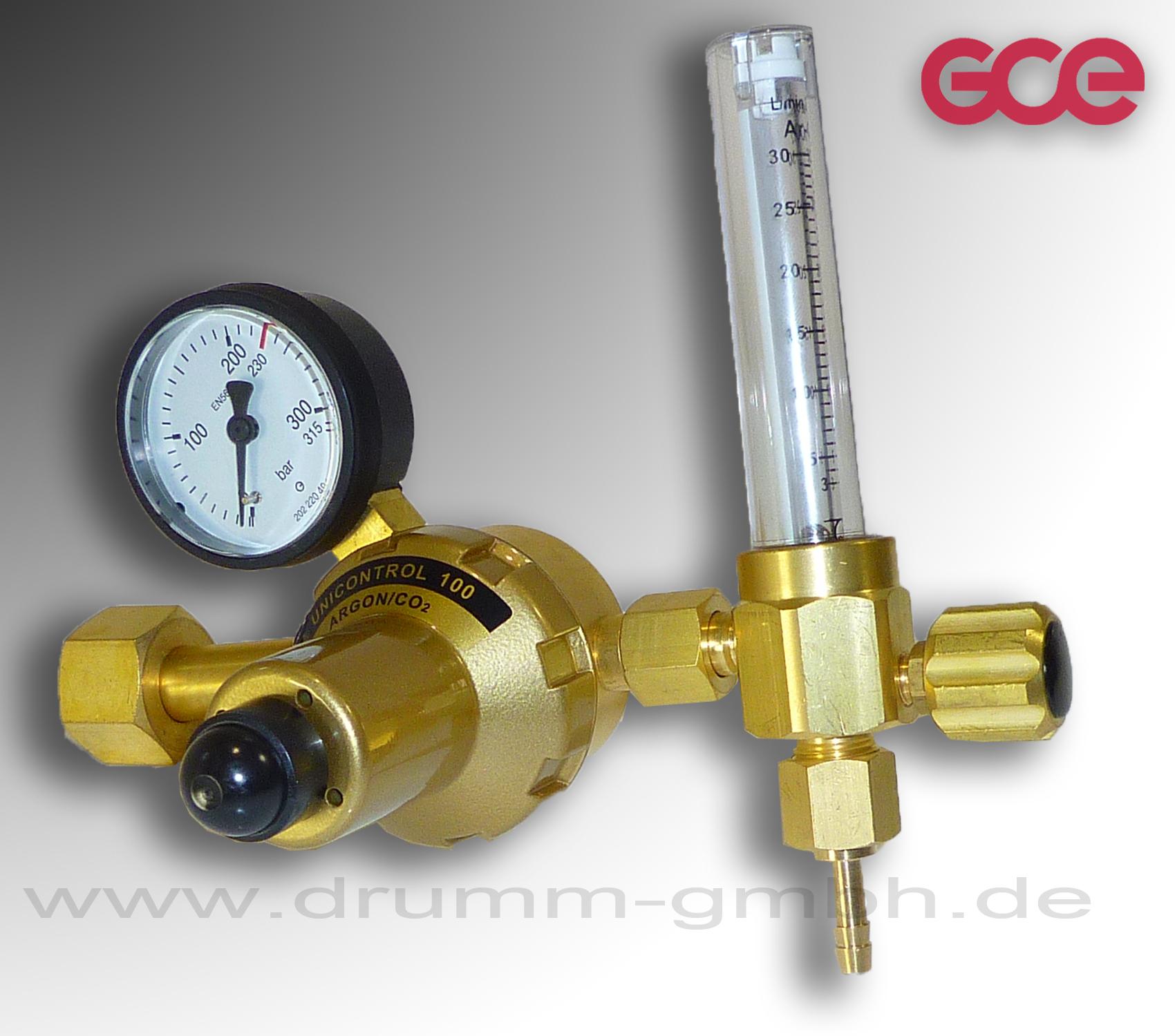 RHÖNA Flaschendruckminderer Argon / CO2  mit Flowmeter