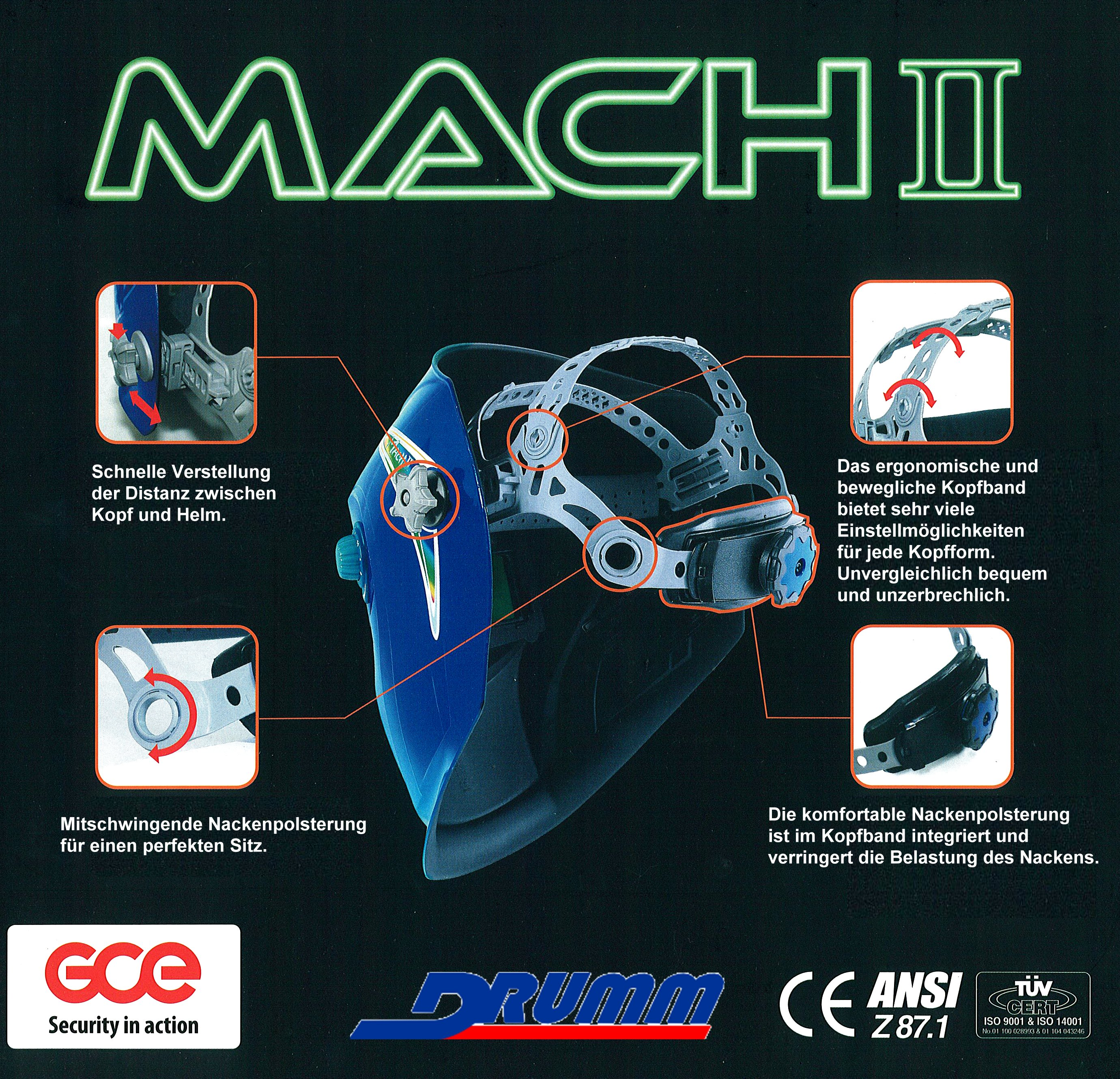 Kopfband Komplett für MACH I, II und III (neue Ausführung)